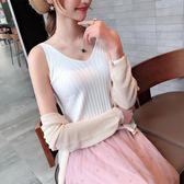 新款純色V領針織吊帶背心女(4色)修身顯瘦無袖T恤上衣內搭衫潮【CF1010】