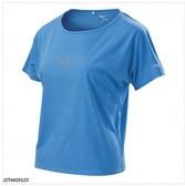 (A2)【美津濃 MIZUNO】女 路跑短袖 運動上衣 運動T恤 快乾-J2TA920123 淺藍