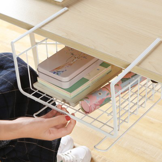 多功能鐵藝隔板置物架 廚房 2勾 櫥櫃 置物架 桌子 掛籃 衣櫃 收納架 櫃子【P486】米菈生活館