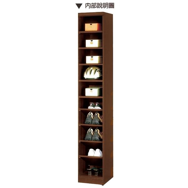 【森可家居】塔利斯1尺玄關鞋櫃 8CM842-4 窄細長型 高 收納櫃 木紋質感 北歐無印風