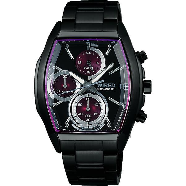 WIRED 東京潮流炫彩計時手錶-紫圈x黑/38mm VR33-0AB0P(AY8012X1)