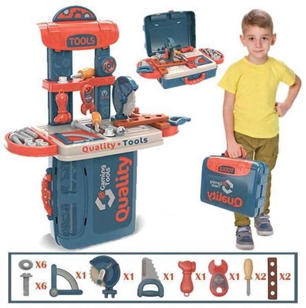 3 in 1 Tool Play Set 工具手提組 橘黑 TOYeGO 玩具e哥