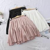 韓版時尚半身裙女新款a字高腰百褶裙短裙子防走光學生女 黛尼時尚精品