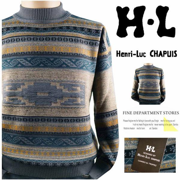【大盤大】H-L 圓領毛衣 M號 套頭毛衣 男 冬長袖毛衣 百貨 高領圖案毛衣 禮物 特價 零碼 好康活動