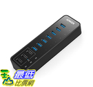[106美國直購] Anker 10-Port 60W A1575111 USB 3.0 Hub 7 Data Transfer Ports and 3 PowerIQ Charging Ports 集線器/充電器