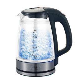 派樂嚴選智慧型玻璃LED雙層快煮壺1.7L HF-3018 (1入)雙層隔熱防護防燙安全電煮壺/電茶壺