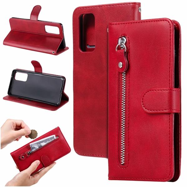 三星 s20 FE 拉鍊磁扣 皮套 手機皮套 掀蓋殼 錢包皮套 插卡 支架 保護套