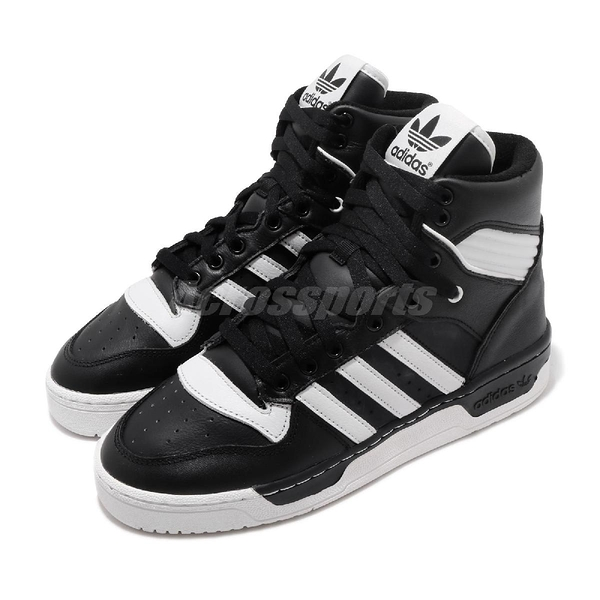 【六折特賣】adidas 休閒鞋 Rivalry 黑白 高筒 三葉草 三條線 男鞋 女鞋 【ACS】 BD8021