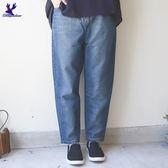 【早秋新品】American Bluedeer - 街頭風水洗牛仔寬褲(魅力價) 秋冬新款