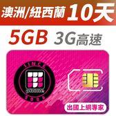 【TPHONE上網專家】紐西蘭/澳洲 10天 5GB 高速上網卡