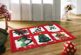 范登伯格 歡樂聖誕止滑踏墊 地墊-聖誕6小禮-45x70cm