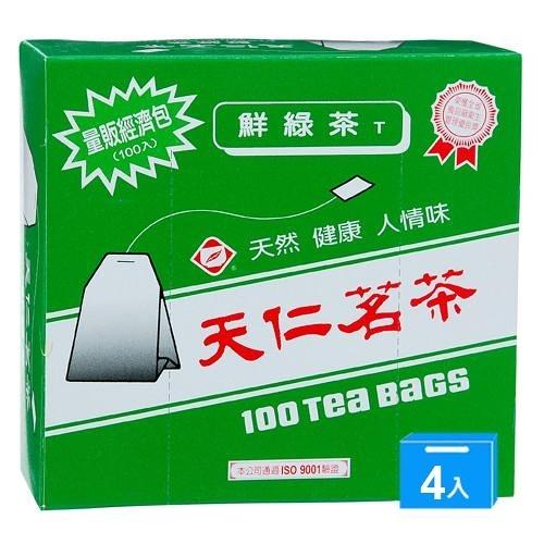 天仁鮮綠茶無紙衣2G*100入*4【愛買】