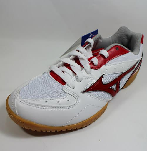 【MIZUNO 美津濃】CROSSMATCH PLIO RX 桌球鞋/白紅81GA183062 M820