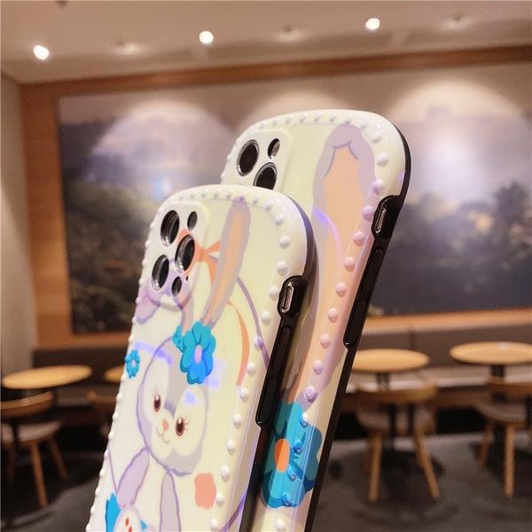iPhone12 Mini 蘋果 11 Pro Max 可愛芭蕾兔 星黛露保護殼 小蠻腰相框 藍光 全包防摔軟殼 手機殼