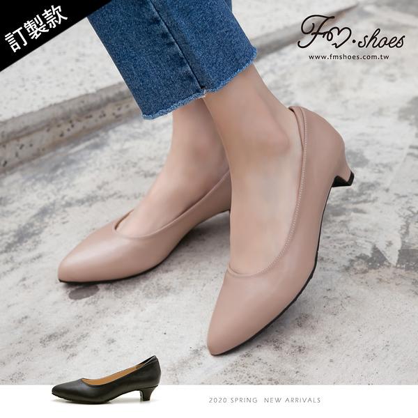 跟鞋.尖頭小錐跟鞋(黑、粉)-大尺碼-FM時尚美鞋-訂製款.Salient