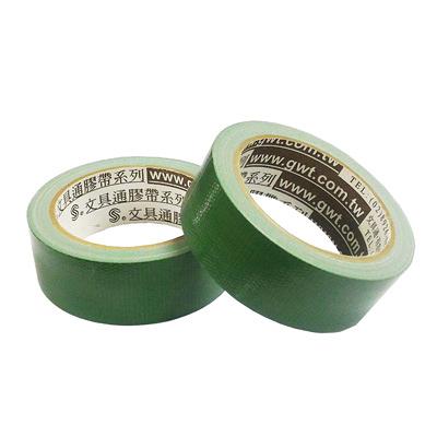 文具通 1.5#布膠帶/書背膠帶/布質膠帶/格紋膠帶36mmx13.5 綠