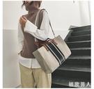 新款韓版時尚女士手提包OL職業商務公事包通勤公文包單肩布包托特包 LJ4941【極致男人】