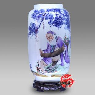景德鎮陶瓷器花瓶手繪人物