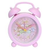 小禮堂 角落生物 塑膠圓形復古鬧鐘 指針時鐘 桌鐘  時鐘 (紫 睡衣) 4548626-12864