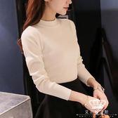 針織衫 加厚保暖女長袖純色百搭秋冬套頭毛衣