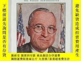 二手書博民逛書店【罕見】1945年4月23日《時代》雜誌,封面美國總統羅斯福 T