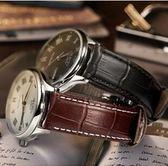 錶帶 積優手錶帶男皮質蝴蝶扣配件卡西歐皮錶帶女士代用DW美度錶帶 4色
