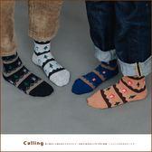 襪子北歐暖心小樹房子針織混紡襪四色Calling