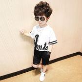 夏季新款韓版童裝中大童短袖T恤兒童運動兩件套裝 QQ266『優童屋』