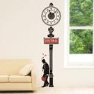 創意羅馬數字時鐘貼 地鐵紳士 時鐘壁貼【YV0014】BO雜貨