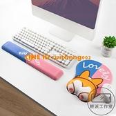 可愛柯基鼠標墊護腕舒適EXCO超大女生硅膠手托動漫鍵盤手托【輕派工作室】