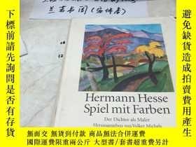 二手書博民逛書店德文原版:Hermann罕見Hesse Spiel mit Farben 赫爾曼黑塞色彩遊戲Y182979