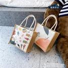手提包 日系帆布包女包包2021夏天新款潮韓版百搭斜背包手提包少女小布包 【99免運】