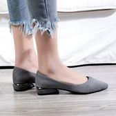 平底鞋 大碼單鞋女40-43新款潮 百搭平底腳寬腳胖腳背高淺口尖頭平底瓢鞋 伊蘿鞋包精品店