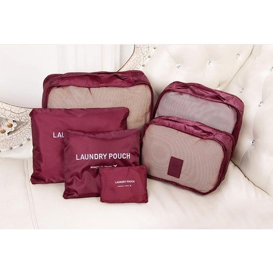 韓式旅行六件組 行李箱壓縮袋旅行箱 旅行收納袋 包中包 收納袋【N014】MY COLOR