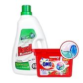 (組合+免運) PERSIL 濃縮強力洗衣精3L+OMO 3D洗衣膠囊225G