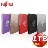 【Fujitsu富士通】USB3.0 2.5吋 1TB大容量金屬鋁殼髮絲防指紋外接式硬碟