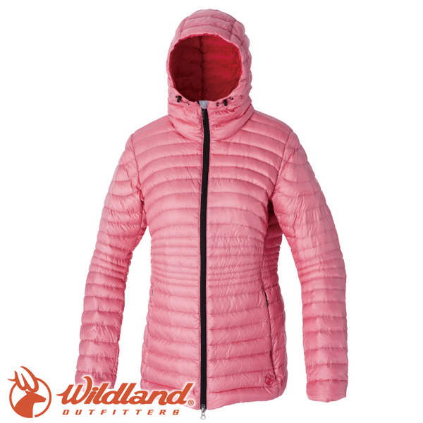 【Wildland 荒野 女款 700FP輕量時尚連帽羽絨外套《粉紅》】0A52111/連帽外套/羽絨衣