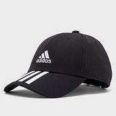 ADIDAS 刺繡 黑 三線LOGO 老帽 基本款 (布魯克林) FK0894