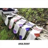 韓版糖果復古三條紋中筒襪子 品牌長襪短襪穿搭 韓妞必備 素色純棉襪 阿華有事嗎