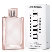 BURBERRY Brit Sheer  粉紅風格女性淡香水 100ml  Tester環保包裝【娜娜香水美妝】