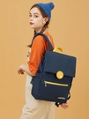 商務雙肩包 書包高中女大學生雙肩包簡約大容量筆記本電腦包14寸女通勤