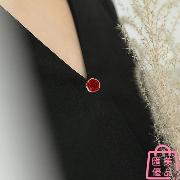 防走光扣針花朵迷你小胸針女夏開衫領口別針扣【匯美優品】