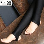 光澤褲打底褲女外穿踩腳加厚加絨高腰薄款保暖棉九分 黛尼時尚精品
