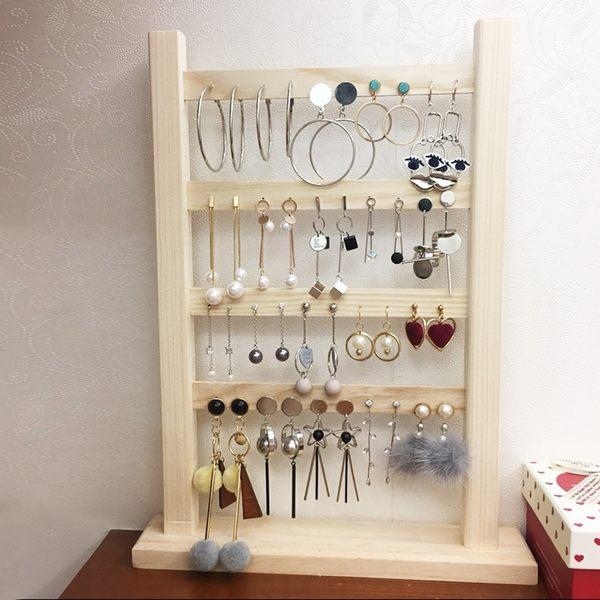 耳環架家用實木耳釘展示架首飾架耳飾收納掛耳墜飾品架子珠寶道具
