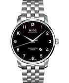 MIDO 美度 Baroncelli 機械手錶-黑/鋼帶 M86904181