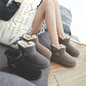 雪靴 雪地靴女2020秋冬季新款鞋子時尚加厚加絨棉鞋一腳蹬厚底短筒短靴