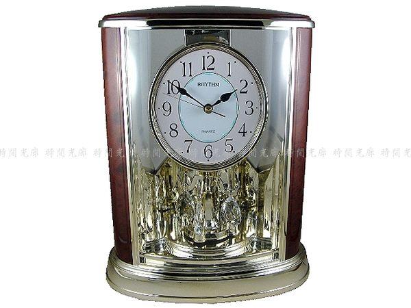 【時間光廊】RHYTHM 日本麗聲 水晶 搖擺 座鐘 全新公司貨 4SG724WS06