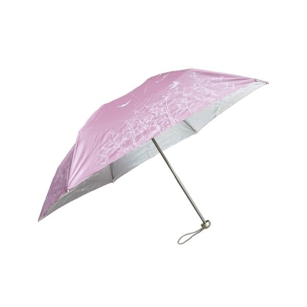 雨傘 陽傘 萊登傘 抗UV 防曬 超細三折傘 日式骨架 防風抗斷 銀膠 Leighton 飛鳥(粉紅)