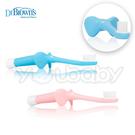 布朗醫生Dr. Brown's 嬰幼兒大象超細柔軟站立牙刷 (粉色/藍色)