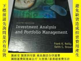 二手書博民逛書店Investment罕見Analysis and portfol